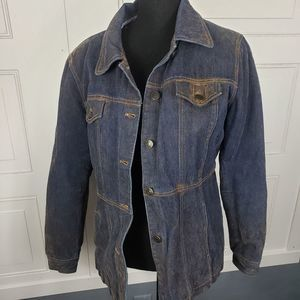 Giacca Quilted Lined Distressed Blue & B
